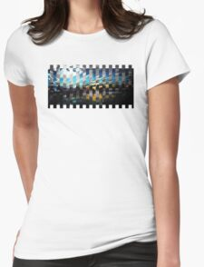 Boston Skyline Remix Womens Fitted T-Shirt