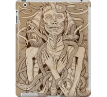 image of pharaoh mummy with snakes on parchment iPad Case/Skin