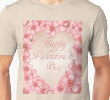 Happy Valentine In Pink Unisex T-Shirt