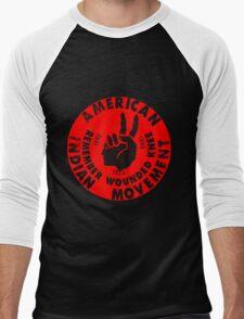AIM (American Indian Movement) Men's Baseball ¾ T-Shirt