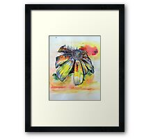 Inky Flower Framed Print