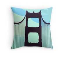 San Francisco's Golden Gate Bridge Throw Pillow
