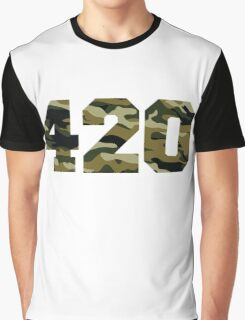 Camo 420 Graphic T-Shirt