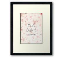 I love you beary much Framed Print