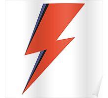 David Bowie Minimal Lightning Ziggy Stardust Poster