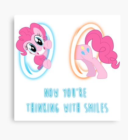 Now You're Thinking With Smiles - Pinkie Pie - MLP Canvas Print