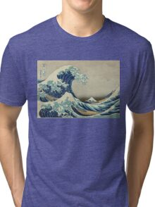 Vintage poster - The Great Wave Off Kanagawa Tri-blend T-Shirt