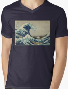 Vintage poster - The Great Wave Off Kanagawa Mens V-Neck T-Shirt