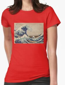 Vintage poster - The Great Wave Off Kanagawa Womens Fitted T-Shirt