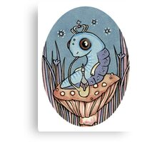 Little Blue Caterpillar Canvas Print