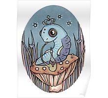 Little Blue Caterpillar Poster