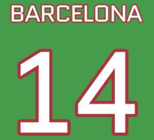 Barcelona Retro Football (I) One Piece - Short Sleeve