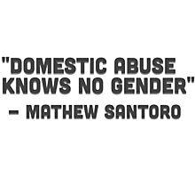 Mathew Santoro: Domestic Abuse Photographic Print