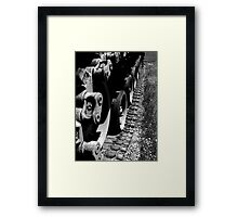 Back to the front..you will do what I say, when I say..the slaughter never ends..Hell is here..Disposable heroes Framed Print