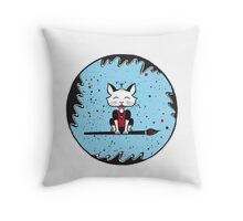 A Cats World of Calligraphy Throw Pillow