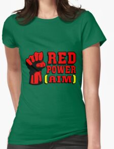 RED POWER (AIM) Womens Fitted T-Shirt