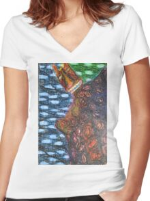 Monster 2 - Abstract Women's Fitted V-Neck T-Shirt