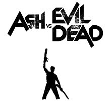 Ash vs Evil Dead - Title and Character Photographic Print