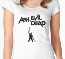 Ash vs Evil Dead - Title and Character Women's Fitted Scoop T-Shirt