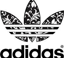 Floral Adidas Logo by emrapper