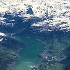 The North Face and Lake Thun by Kasia-D