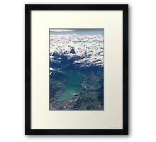 The North Face and Lake Thun Framed Print