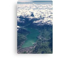 The North Face and Lake Thun Canvas Print