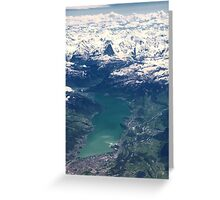 The North Face and Lake Thun Greeting Card