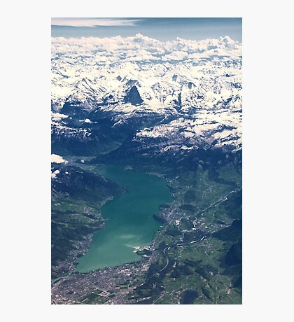 The North Face and Lake Thun Photographic Print