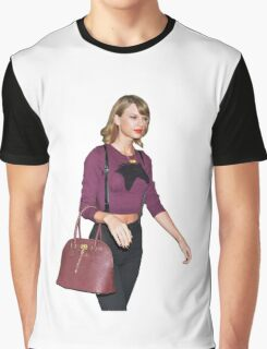 Candid Model Taylor Swift Graphic T-Shirt