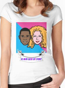 RJ and Lizzie Do Stuff Women's Fitted Scoop T-Shirt