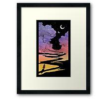 Techno Colour Desert Nomad Framed Print