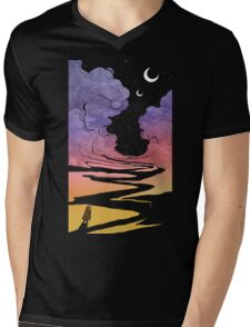 Techno Colour Desert Nomad Mens V-Neck T-Shirt