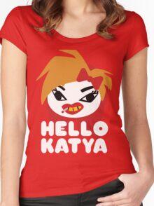 HELLO KATYA Women's Fitted Scoop T-Shirt