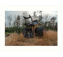 Forestry feller buncher  Art Print