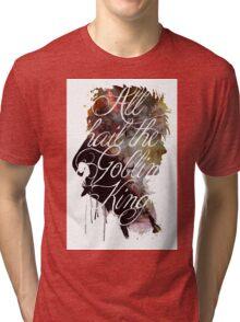 David Bowie // Labyrinth // All Hail the Goblin King Tri-blend T-Shirt