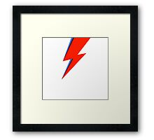 Aladdin Sane Lightning Flash  Framed Print