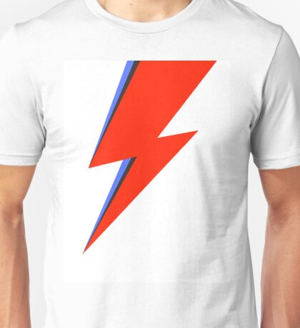 Aladdin Sane Lightning Flash  Unisex T-Shirt
