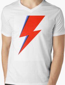 Aladdin Sane Lightning Flash  Mens V-Neck T-Shirt