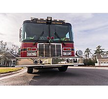 Big Red  fire truck  Photographic Print