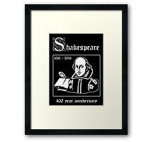 Shakespeare -- 400 Year Anniversary Framed Print