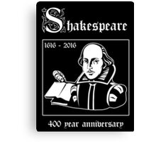 Shakespeare -- 400 Year Anniversary Canvas Print