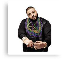 DJ Khaled w/ Beads  Canvas Print