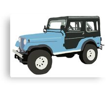 Roscoe the Jeep! Canvas Print