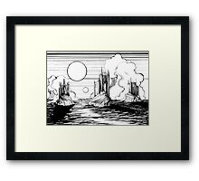 Three Island Castles Framed Print