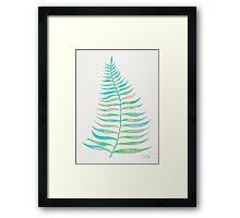 Palm Leaf – Sea Foam Palette Framed Print