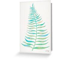 Palm Leaf – Sea Foam Palette Greeting Card