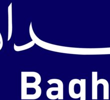 Baghdad, Road Sign, Iraq Sticker
