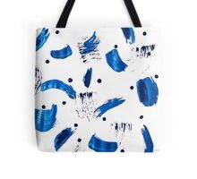 Patterned Blue Brush Strokes Tote Bag