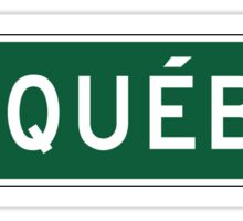 Quebec, Road Sign, Canada Sticker